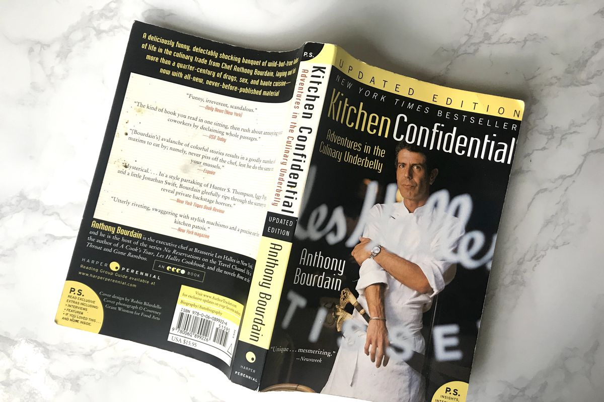 kitchen confidential book flooring anthony bourdains books are selling out and topping