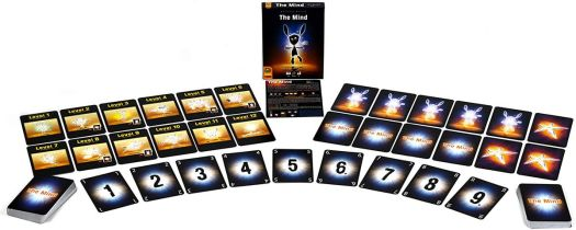 All the card for The Mind laid our for play. Most number one through nine.