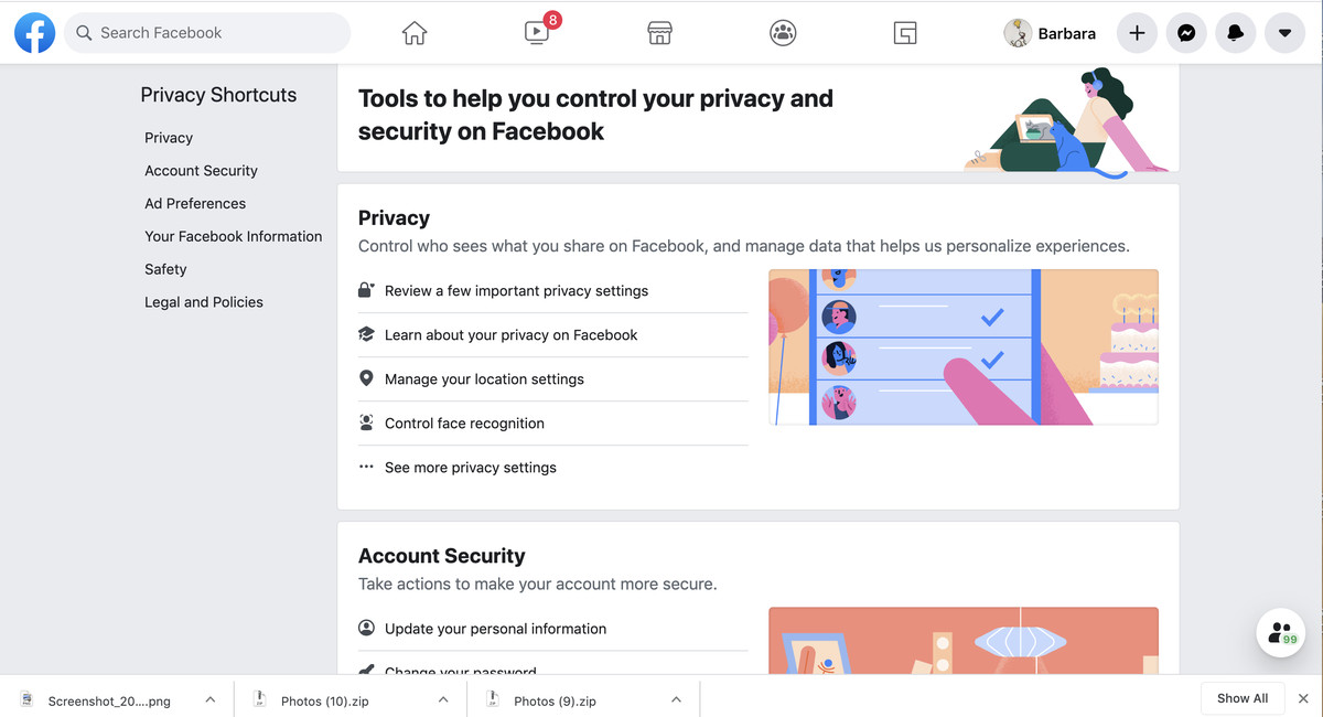"""Select """"Manage your location settings"""" under the """"Privacy"""" category."""