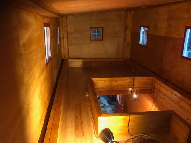 Second story of wooden tiny home