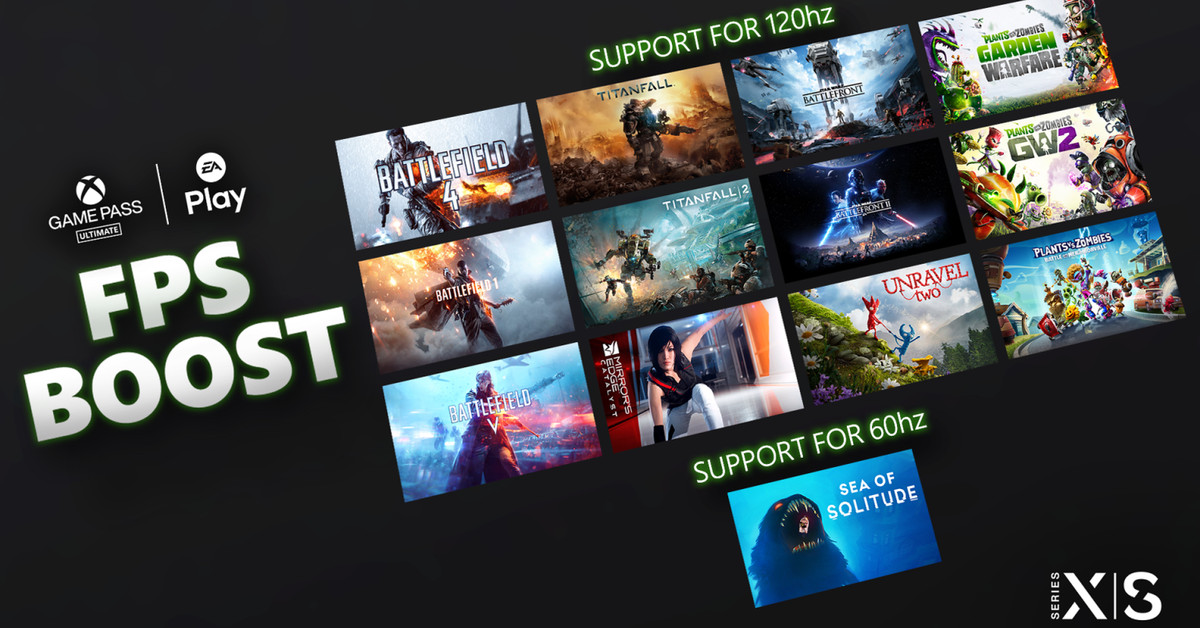 12 EA games get 120fps boost on Xbox Series X / S