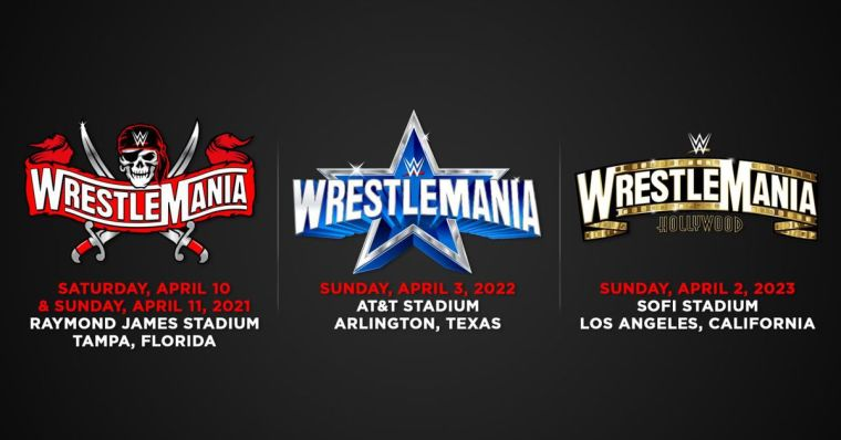 WWE reveals dates, locations for next three WrestleMania events