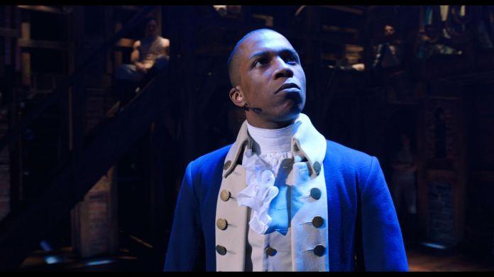 Leslie Odom Jr. as Aaron Burr in Hamilton.
