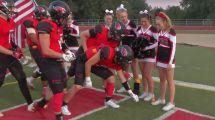 California Hs Football Team Presented Cheerleader
