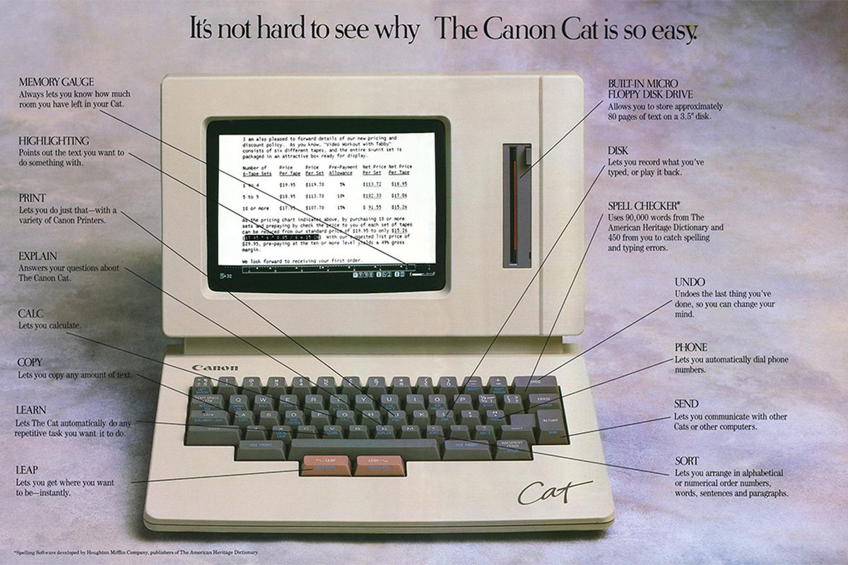 Jef Raskins Canon Cat and its Humane Interface  The Verge