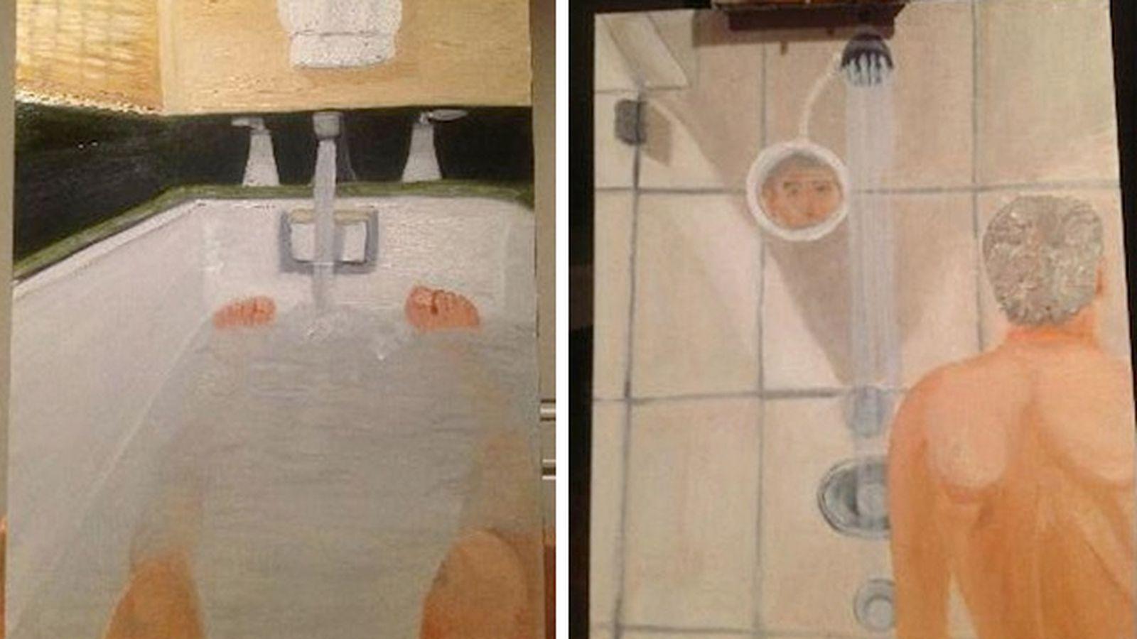 George W Bushs Bizarre Bathroom Self Portraits Laid Bare