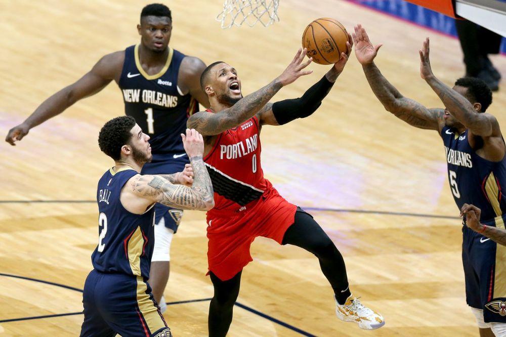 Αποτέλεσμα εικόνας για Portland Trail Blazers New Orleans Pelicans 126-124