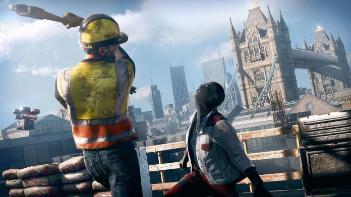 A construction worker hits someone with a wrench in Watch Dogs: Legion