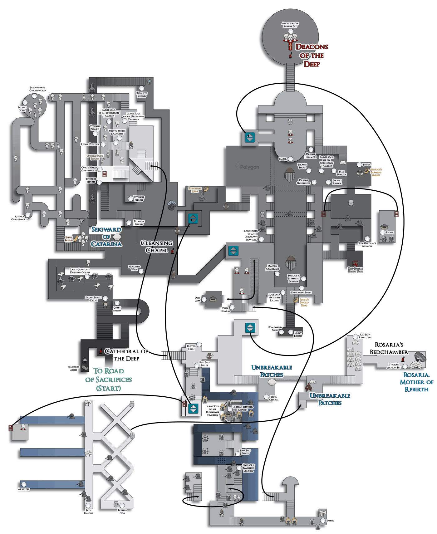 World Map - Dark Souls III Game Guide... | gamepressure.com
