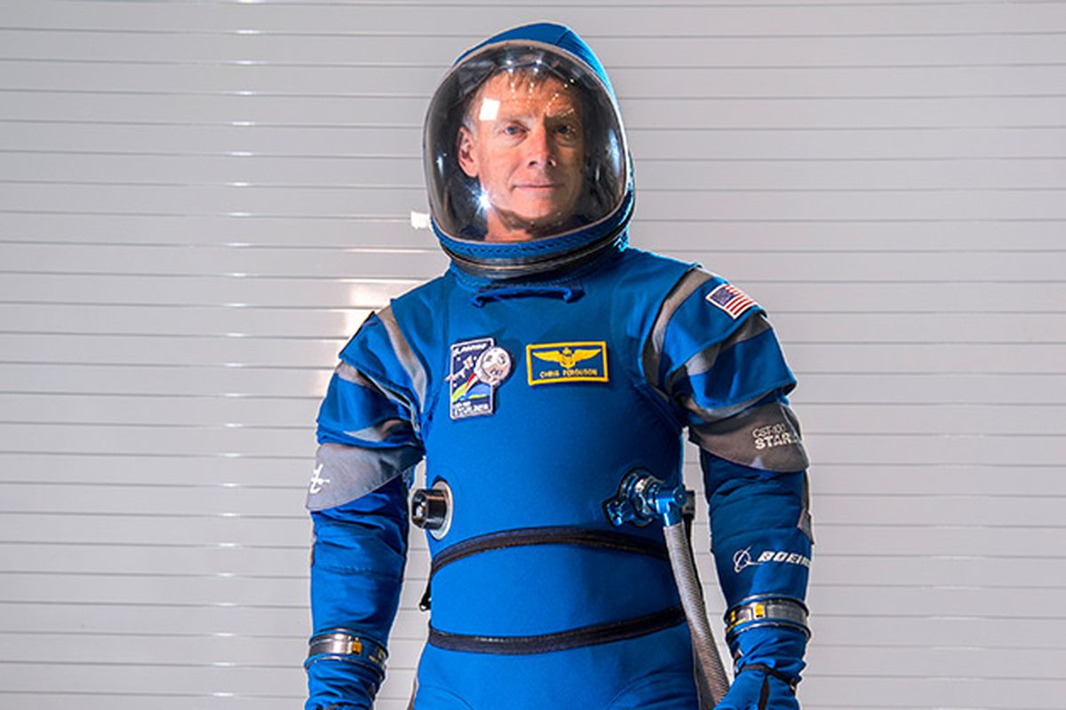 This is the bright blue Boeing spacesuit astronauts will wear en route to the ISS  The Verge