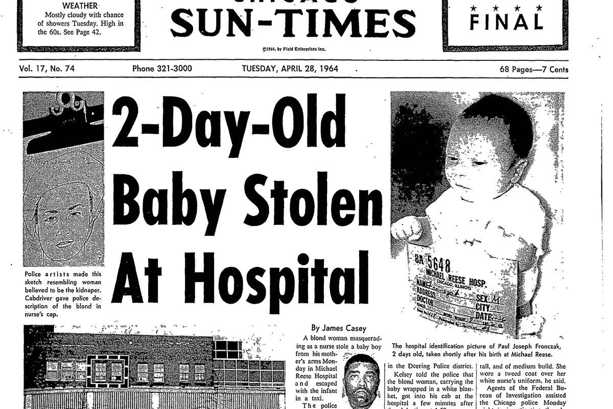 Paul Fronczak kidnapping: Baby taken from Chicago hospital