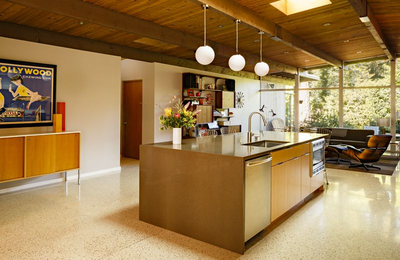 kitchen island designs with seating cheap kitchens tips and advice what to consider first curbed boyer leritz built in both a prep sink microwave for this portland renovation photo courtesy of risa architecture