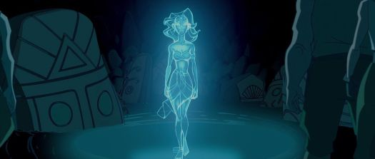 Kida in a blue spirit form
