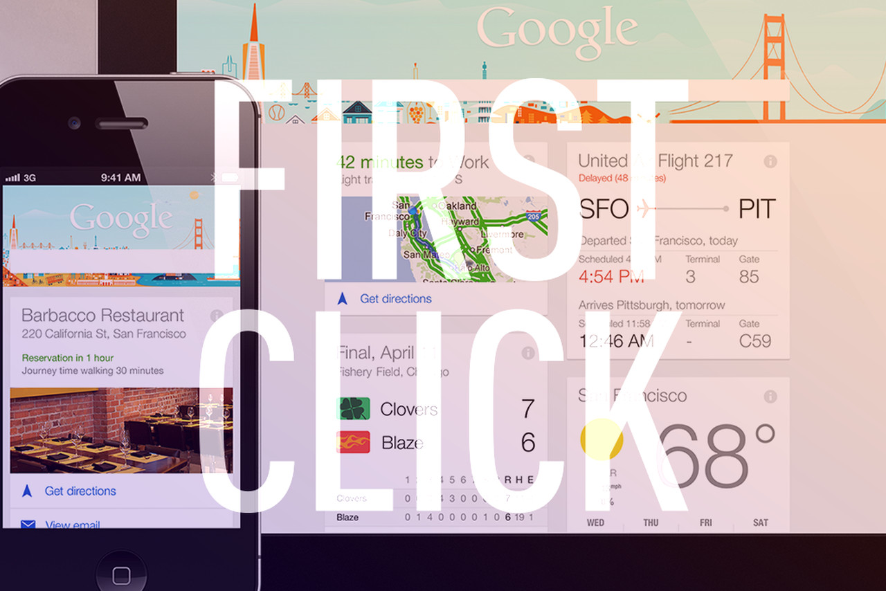 first click google s