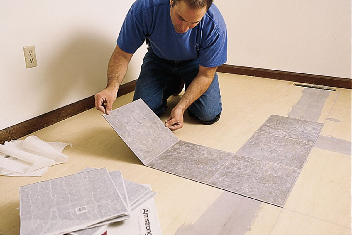 how to lay a vinyl tile floor this