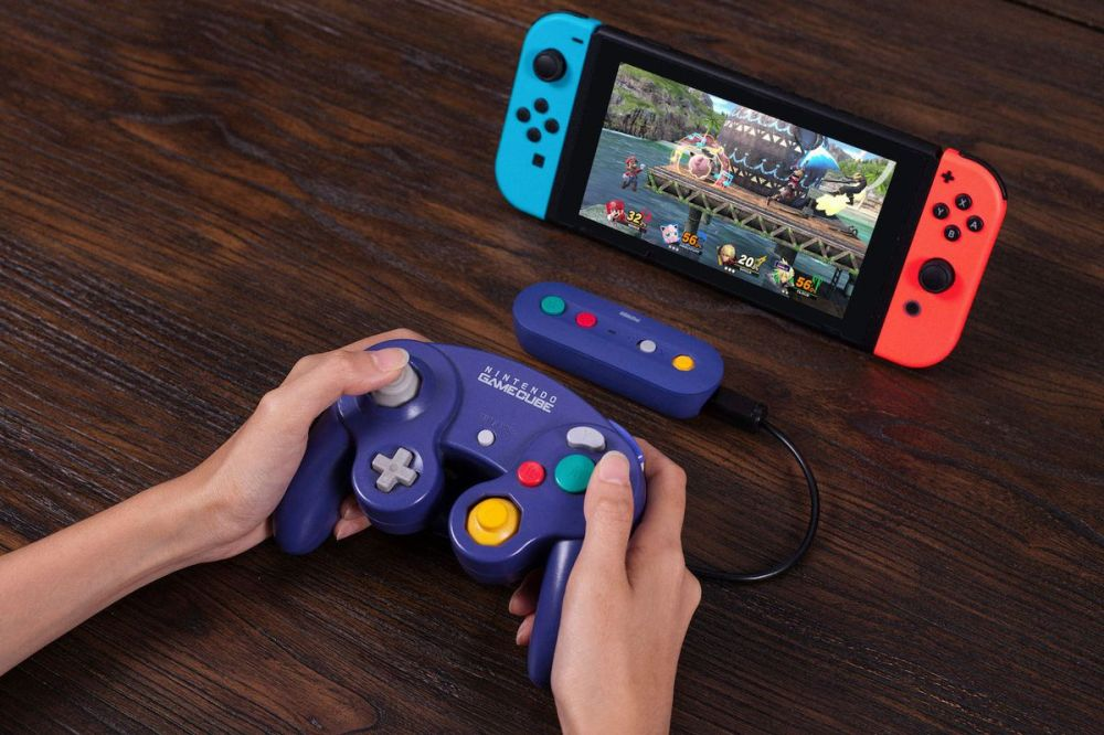 medium resolution of this nintendo switch adapter turns your gamecube controllers wireless