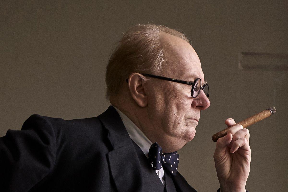 Gary Oldman Plays Winston Churchill In Darkest Hour. Jack English / Focus  Features