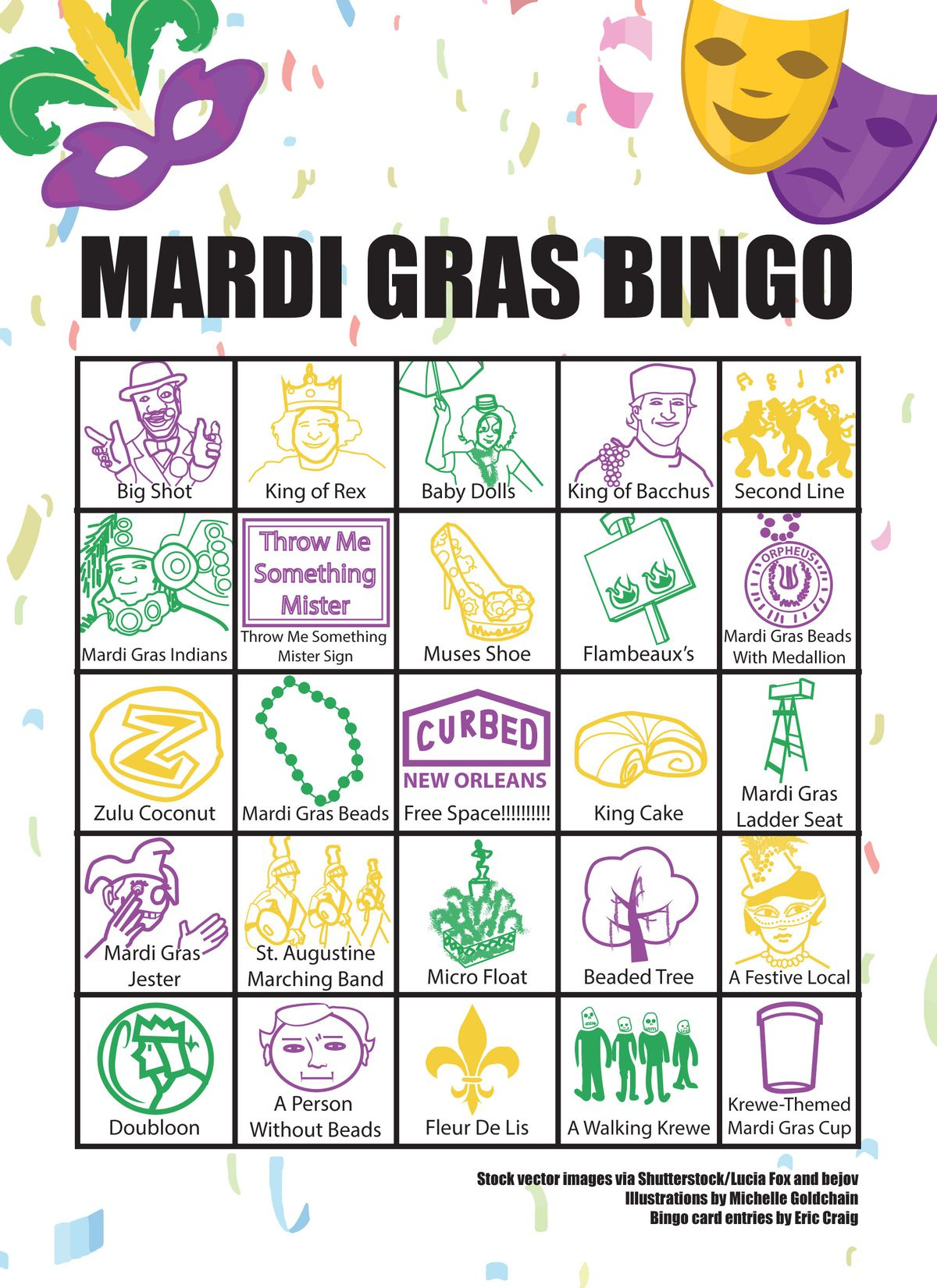 Celebrate Mardi Gras In New Orleans With This Bingo