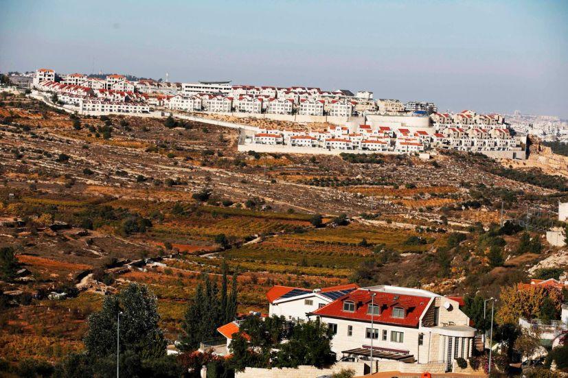 El asentamiento israelí de Efrat cerca de la ciudad palestina de Belén el 19 de noviembre de 2019. Menahem Kahana / AFP a través de Getty Images