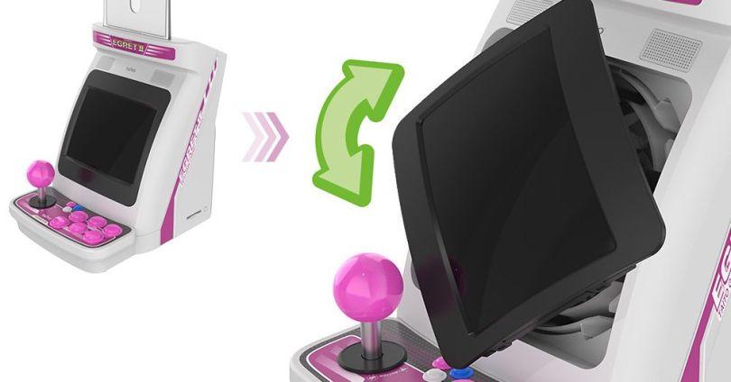 Taito announces mini arcade cabinet with rotating screen and trackball