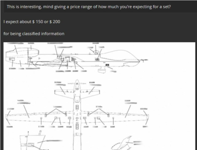 A hacker was caught selling a stolen Air Force drone manual