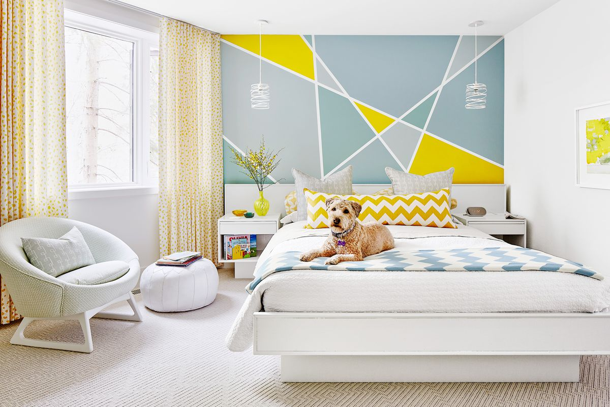 Paint a Simple Geometric Pattern on Your Bedroom Wall - This Old House