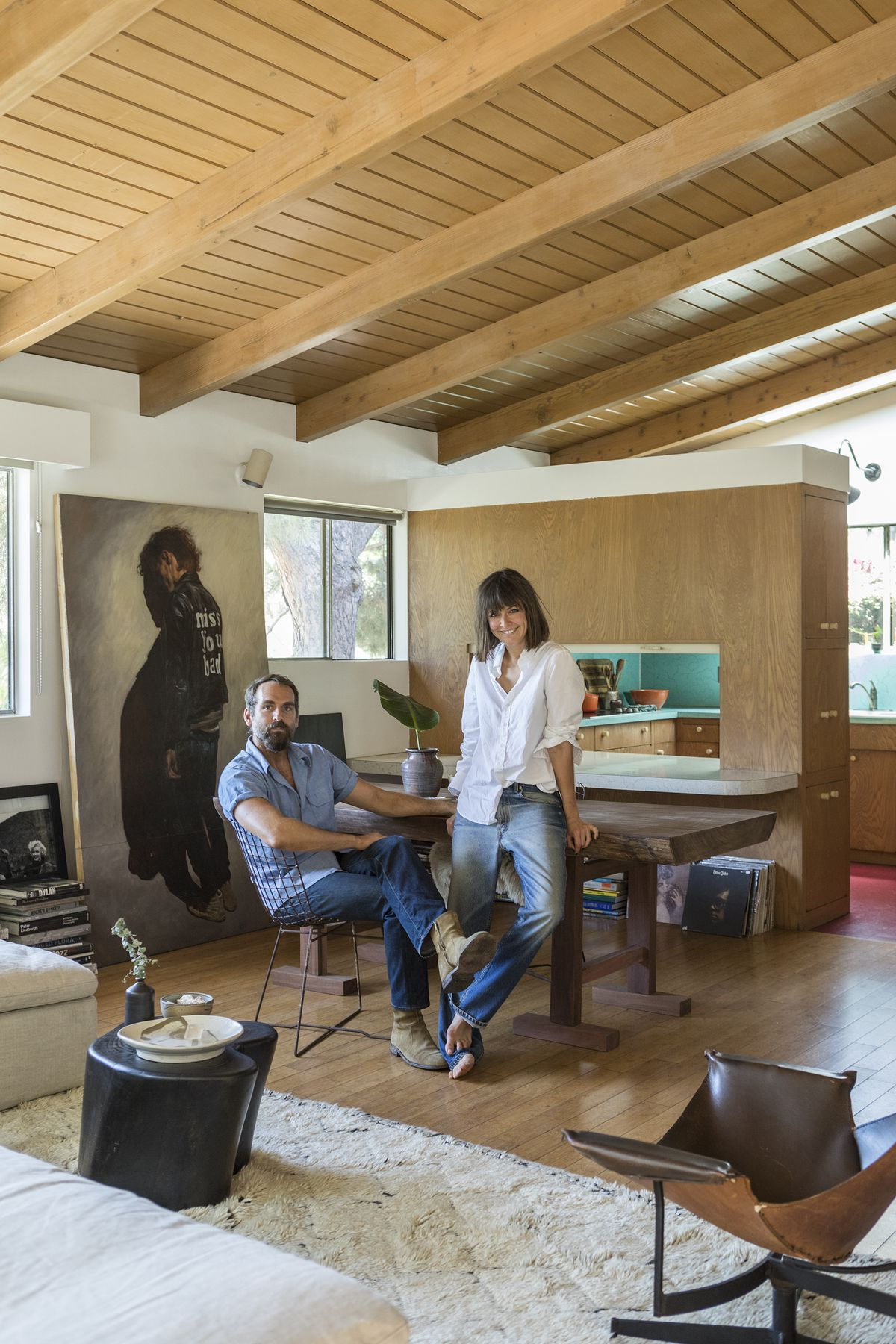 A midcentury modern time capsule brings a design couple closer together  Curbed LA