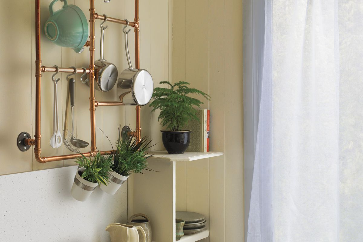 how to make a pot rack from copper pipe