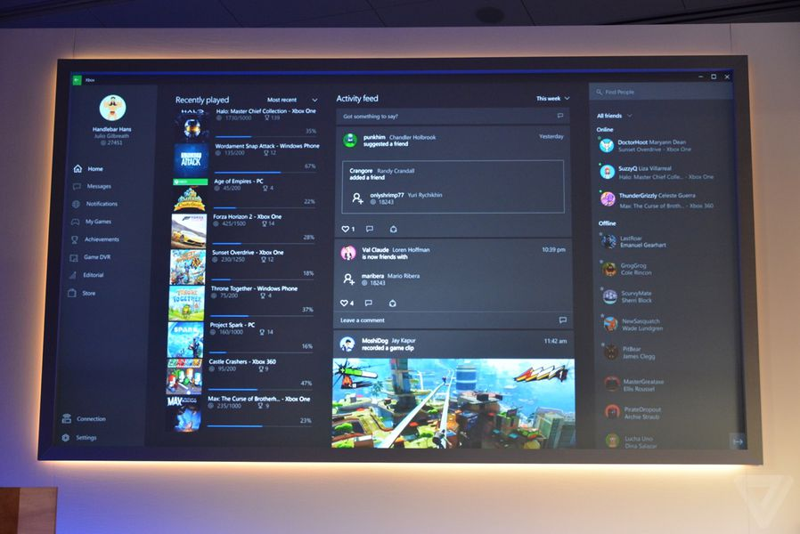 Microsoft reveals Xbox app for Windows 10 with Game DVR - The Verge
