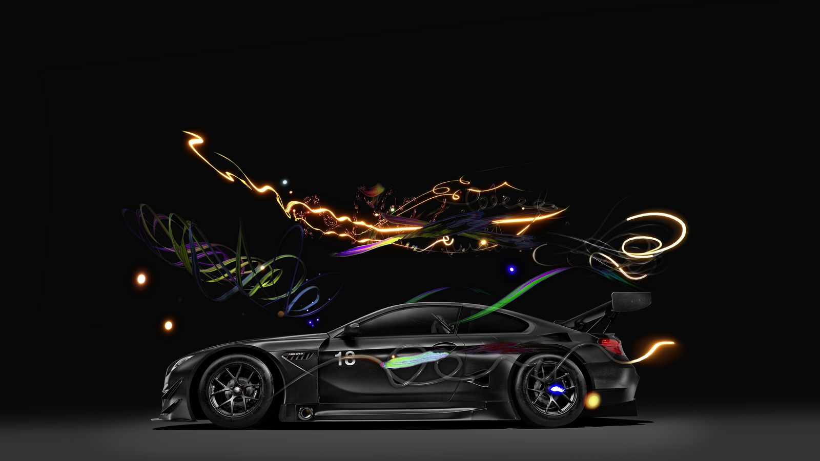 Tesla Car In Space Wallpaper New Bmw M6 Gt3 Art Car Runs On Speed And Vr Imagination
