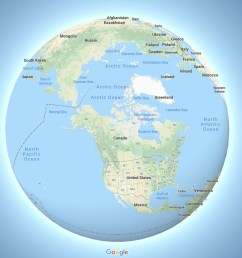 google maps now depicts the earth as a globe [ 1200 x 800 Pixel ]