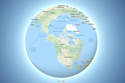 small resolution of google maps now depicts the earth as a globe