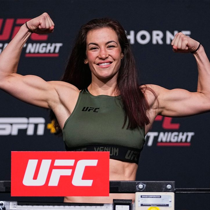 Appearing on the scales with a career best physique, we're left to wonder whether it is all natural on Miesha Tate's return | UFC on ESPN 26