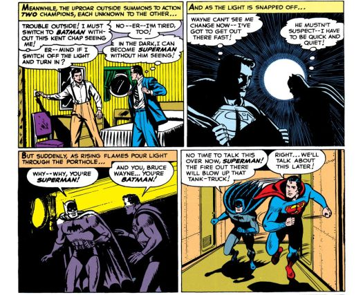 Batman and Superman's first crossover comic saw DC heroes share a bed 2