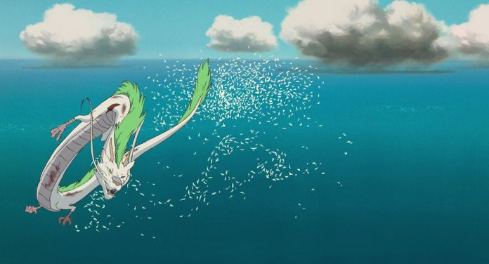 the river spirit in dragon form in spirited away