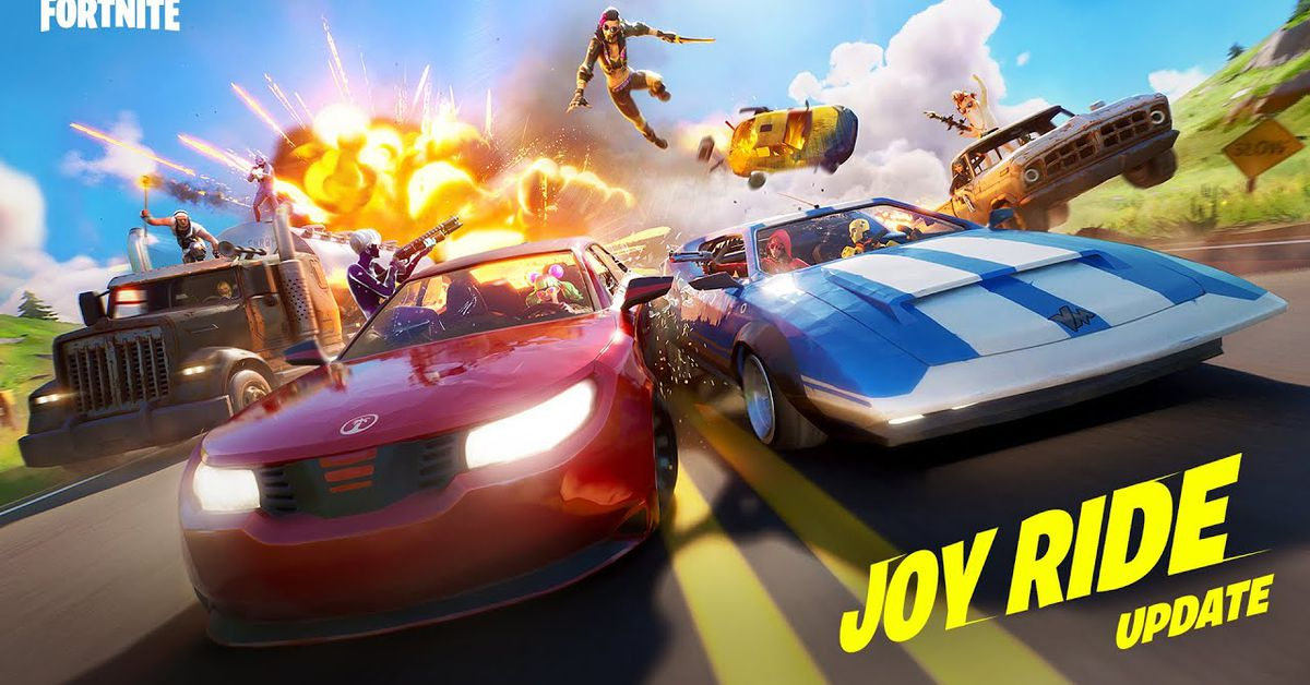 Fortnite adds sports cars, pickups, and trucks with new Joy Ride update