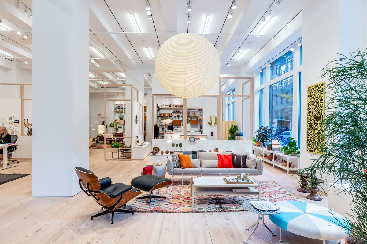 herman miller chairs seattle chair and a half with sleeper unveils its nyc flagship full of midcentury