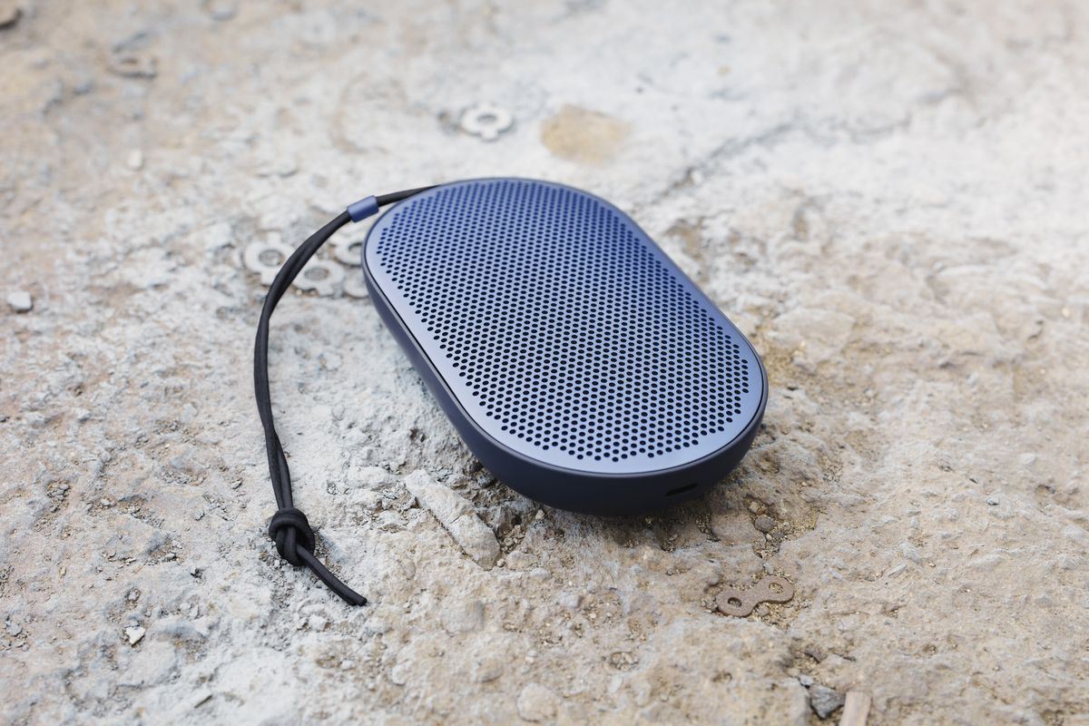 hight resolution of the beoplay p2 is a bluetooth speaker that replaces buttons with tap and gesture controls