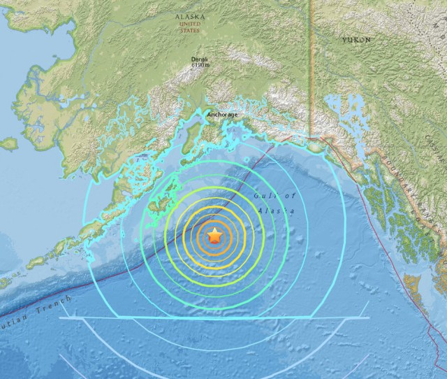 The Epicenter Of A Magnitude 7 9 Earthquake Off The Coast Of Alaska On January 23 2018 Us Geological Survey