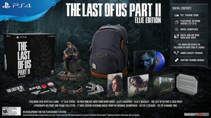 Components of the Last of Us Part 2 Ellie Edition