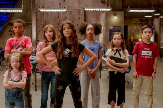 a group of kids ready to kick some butt in we can be heroes