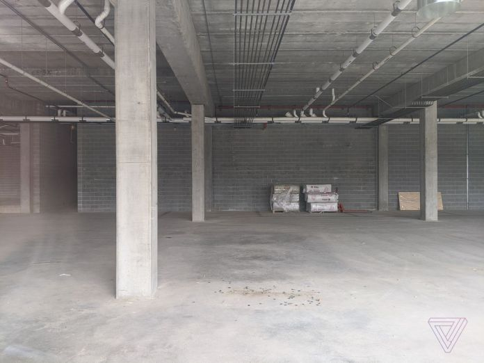 "The empty Foxconn ""innovation center"" in Eau Claire, Wisconsin, on April 10th, 2020"