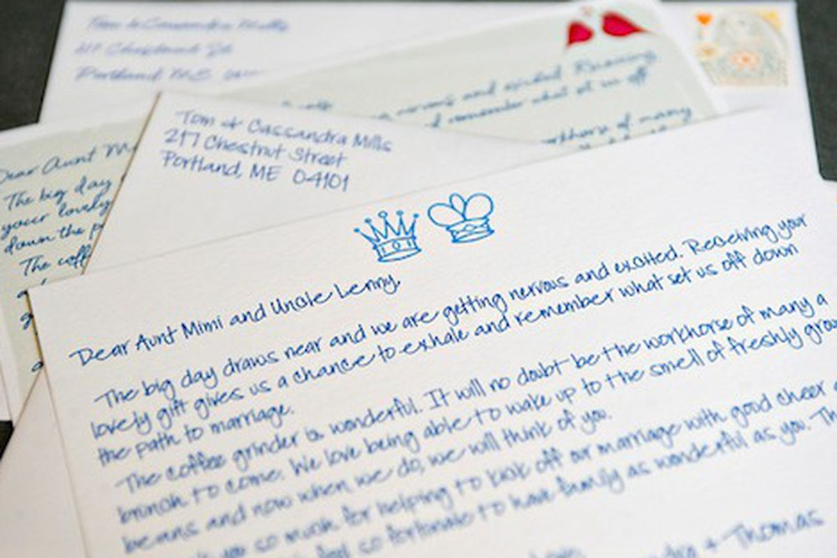 Just In Time For Wedding Season: Husband-And-Wife Team Sarah And Jonathan  Rapaport Have Launched Thanks For Everything, A Customized Thank You Note-Writing