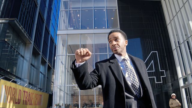 André Holland as Ray Burke in <em>High Flying Bird</em>.