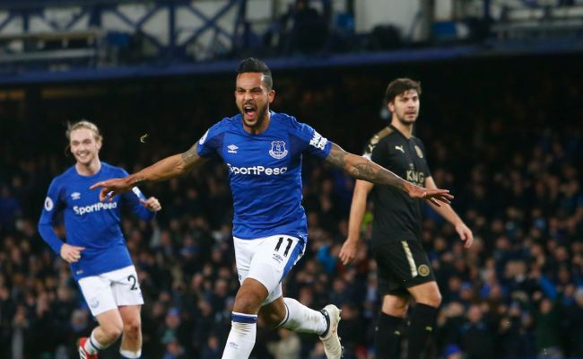 Everton 2 1 Leicester City Theo Royal Blue Mersey