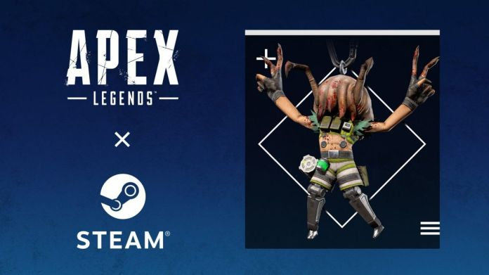 Octane from Apex Legends with a headcrab from Half-Life