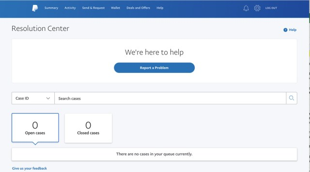 When you have an issue with a vendor, your first stop is PayPal's Resolution Center.