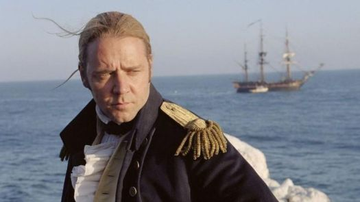 """Russel Crowe as Captain John """"Jack"""" Aubrey in Master and Commander: The Far Side of the World."""