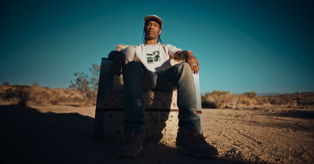 Travis Scott's PS5 'unboxing' is a strangely cool short movie
