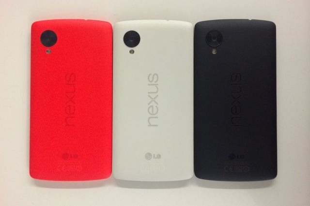 red nexus 5 iphone shots